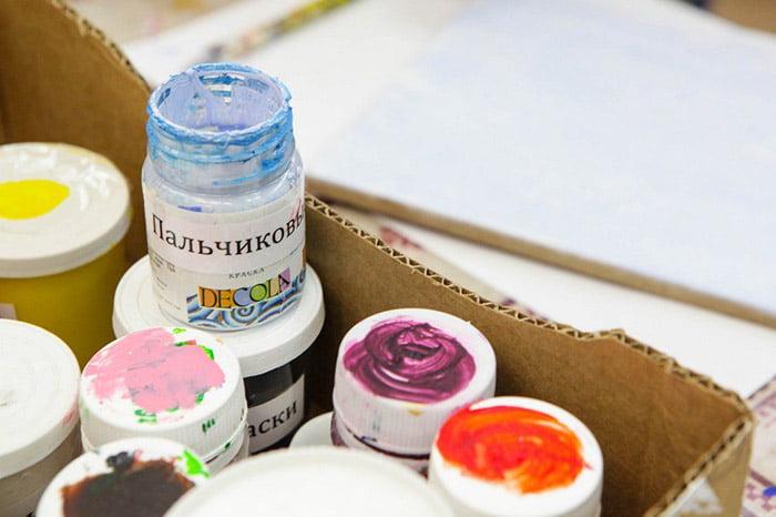 Баночки с пальчиковыми красками