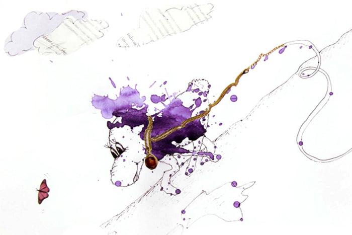 Рисунок из кляксы