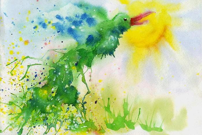 Рисунок растекшейся краской