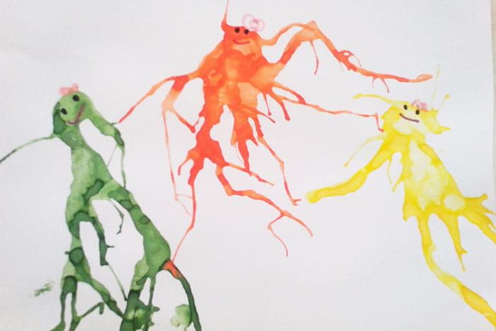Детский рисунок в технике монотипия