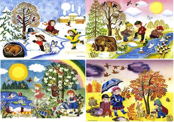 Картинки для детей - времена года
