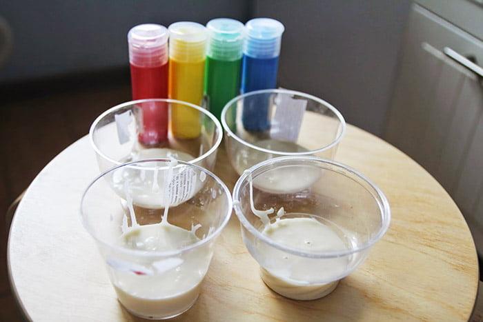 Приготовление объемной краски