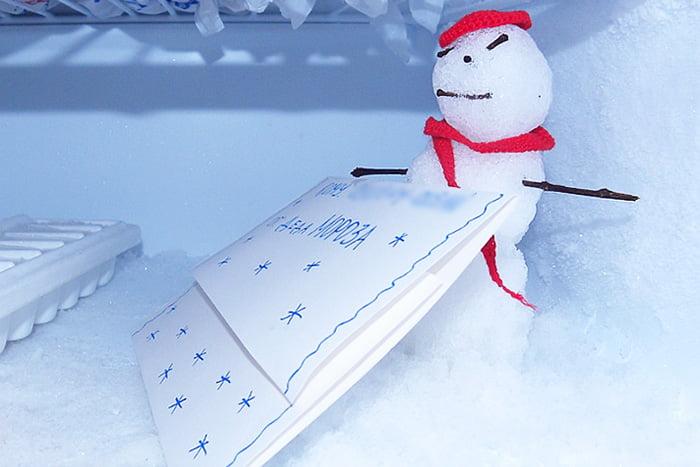 Письмо Деду Морозу в морозилке