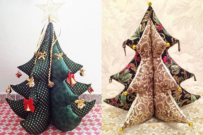 Новогодние елочки из ткани и синтепона