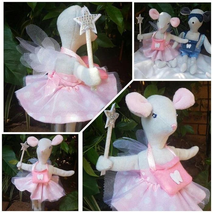 Елочная игрушка из ветра - фея-мышка