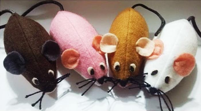 Фетровые мышки