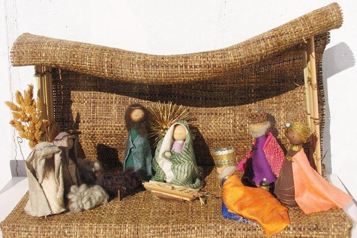 Рождественский вертеп из ткани