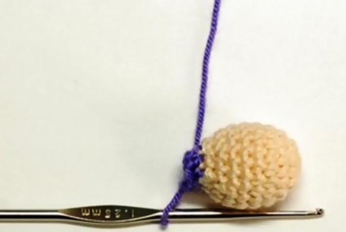 Вязание головы крючком