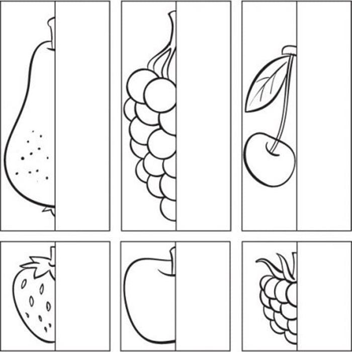 """Упражнение """"Дорисуй фрукт"""""""