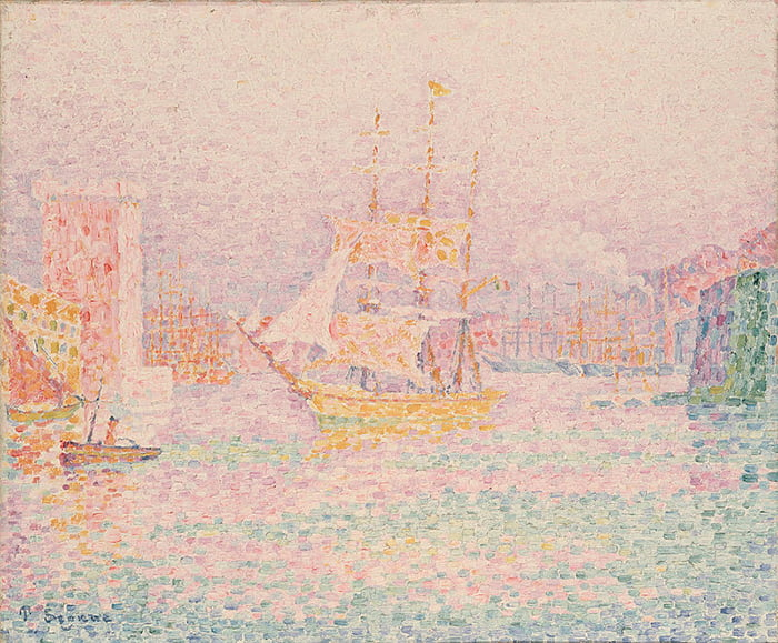 Картина Поля Синьяка«Гавань в Марселе»