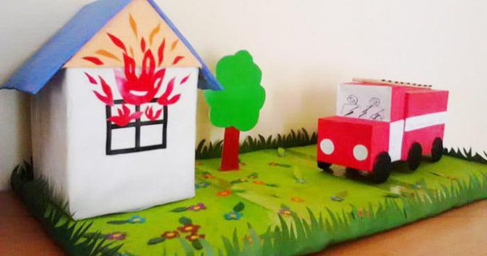 Поделка на тему пожарной безопасности