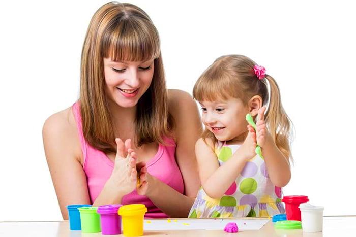 Занятие лепкой с 4-летней девочкой