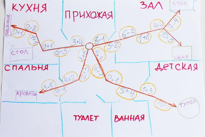 """Карта для игры """"Поиск клада"""""""