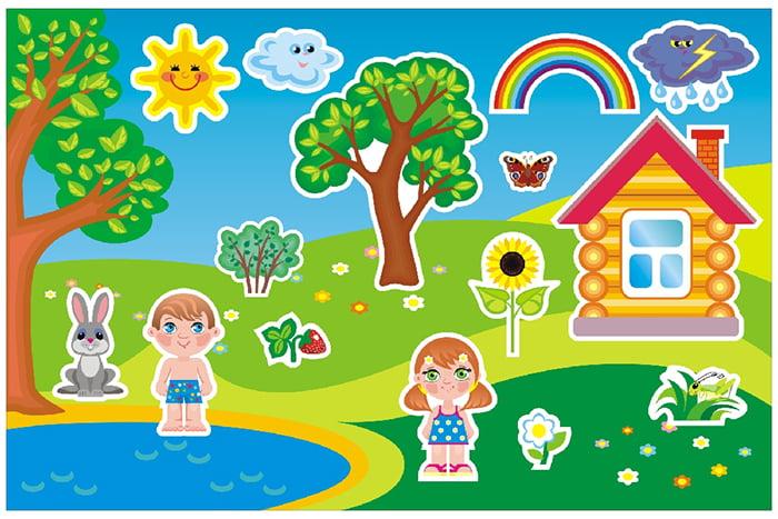 Признаки лета для детей в картинках