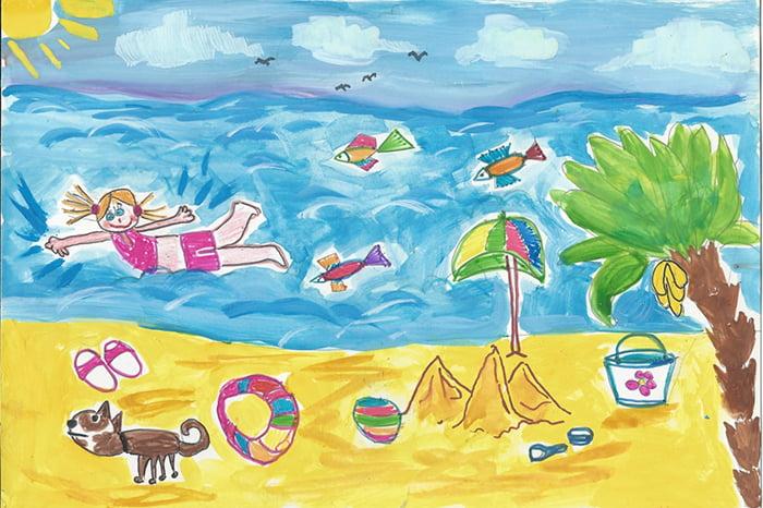 Детский рисунок - летние каникулы