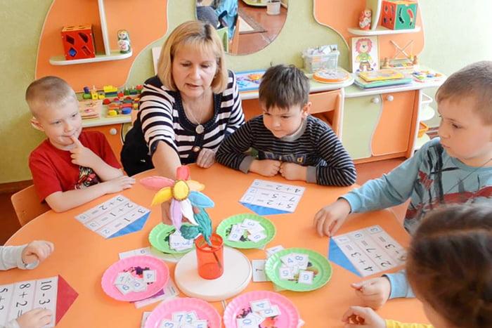 Занятия в детском саду в старшей группе