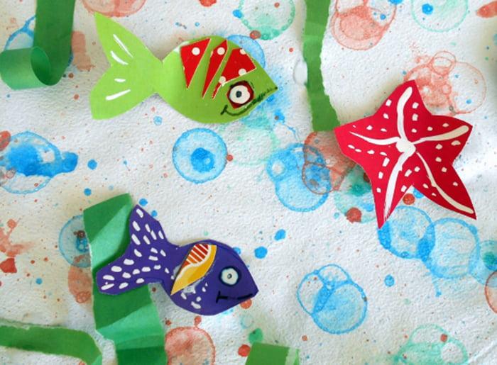 Подводный мир, нарисованный мыльными пузырями