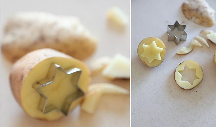 Изготовление штампов из картошки