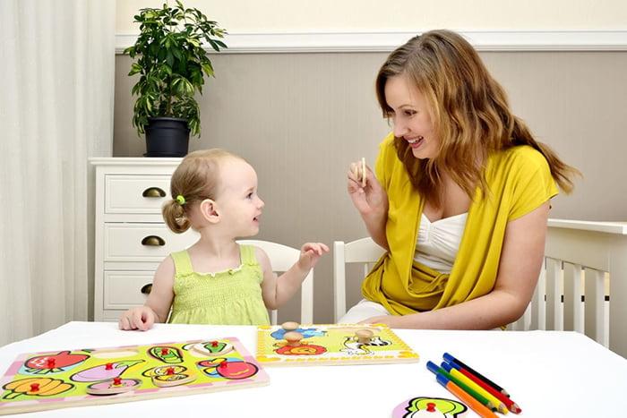 Развивающее занятие с трехлетней девочкой