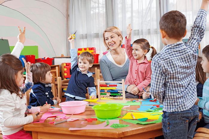 Занятие в детском саду