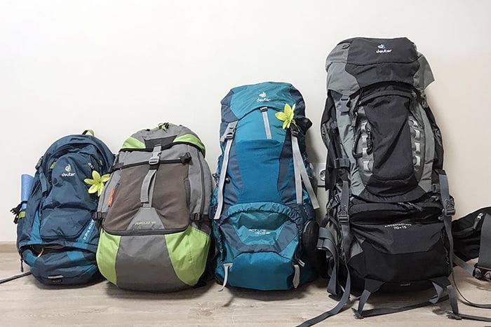 Походные рюкзаки для семьи с детьми