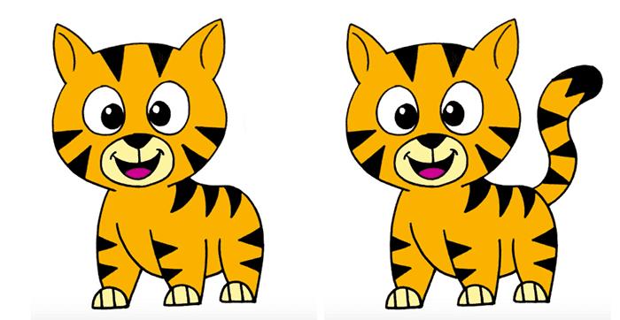 Котенок с хвостом и без хвоста
