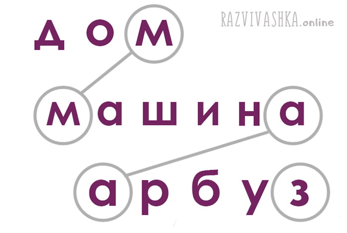 Схема игры в слова