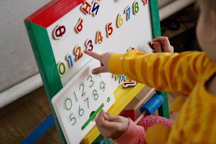 Малыш запоминает порядок цифр