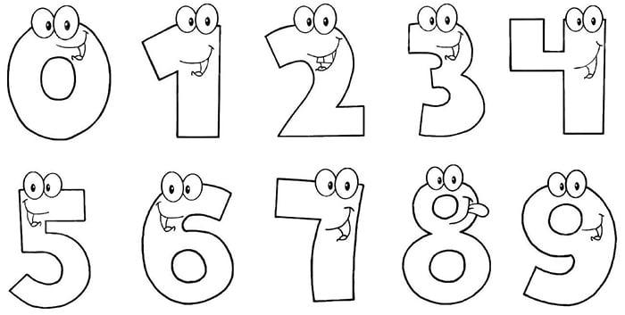 Раскраска с цифрами для малышей
