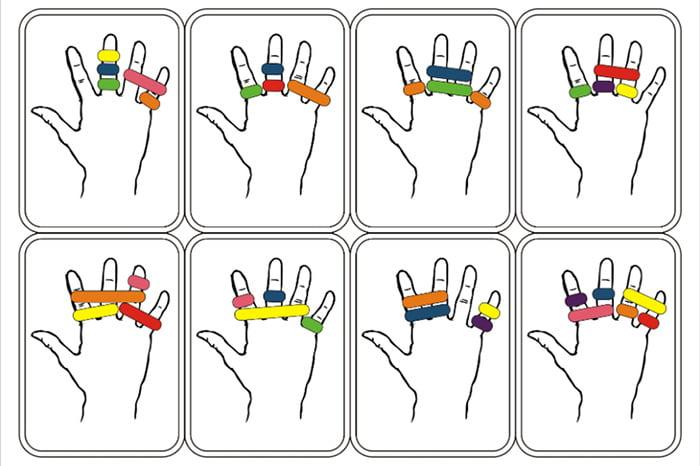 Пальчиковые игры с резинками