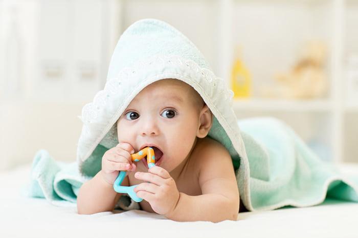 Малыш после купания