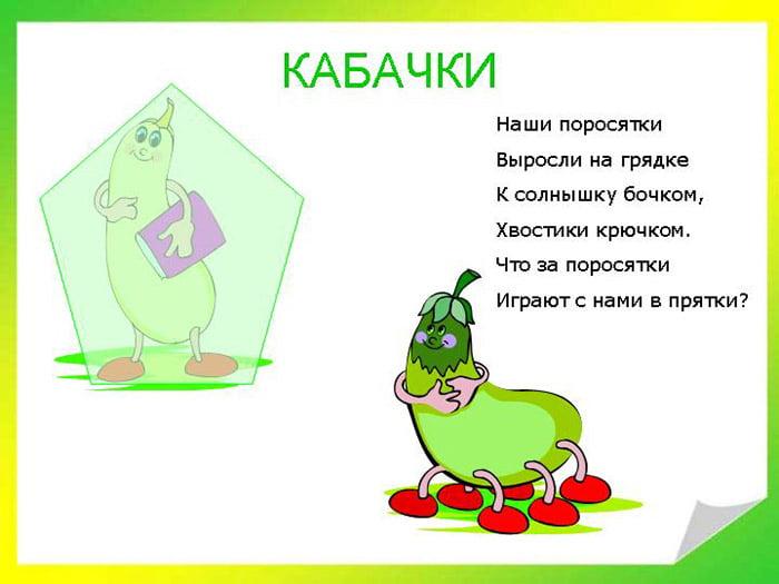 Загадка про кабачки
