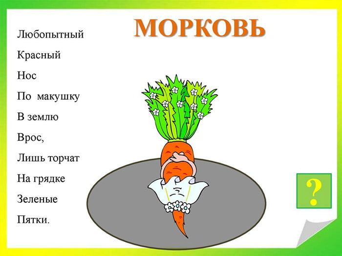 Загадка про морковь