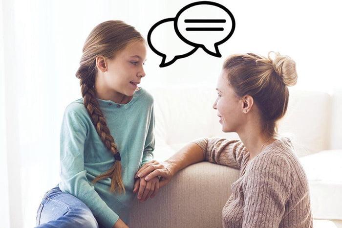 Диалог мамы и дочери-подростка