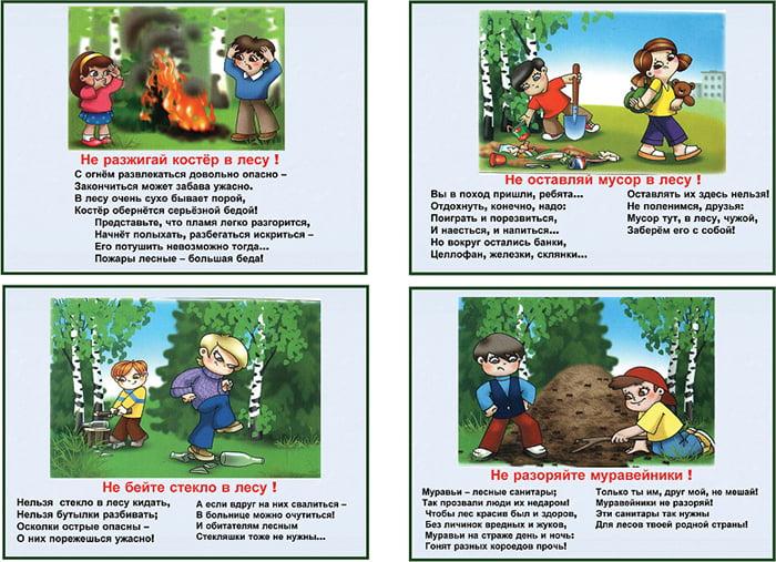 Стихи о правилах поведения в лесу - часть 1