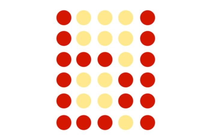 Буква Ы из цветных кружочков