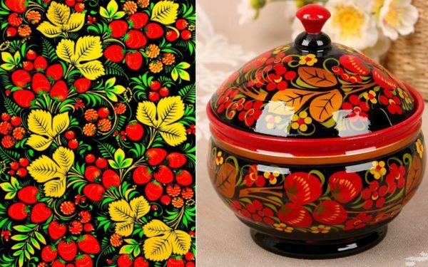Хохломская роспись ягодка