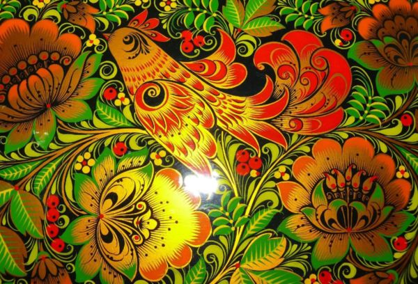 Хохломская роспись травка