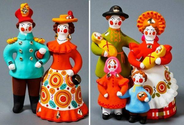 Расписные игрушки из глины