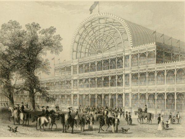 Хрустальный дворец, возведенный в Лондоне