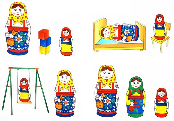Игры для детей с матрешками