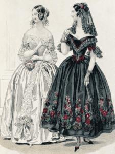 Платья с корсетом 19 век