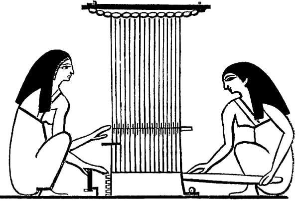 Возделывание льна в древнем Египте