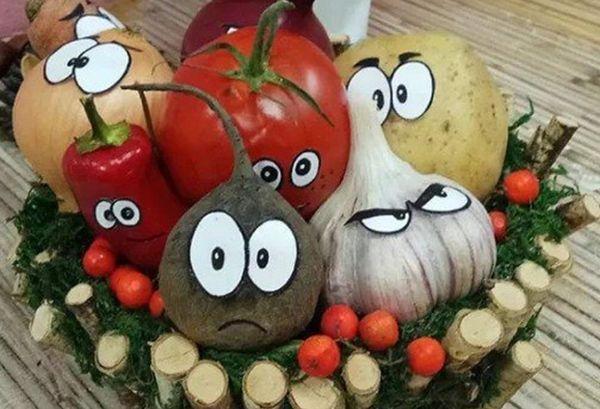Веселые овощи