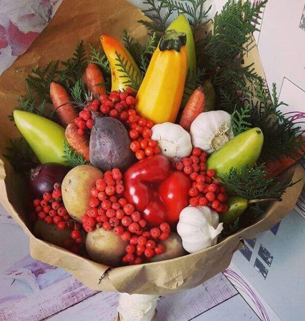 Букеты из овощей, фруктов, ягод