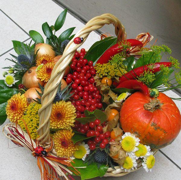 Осенние дары в корзине