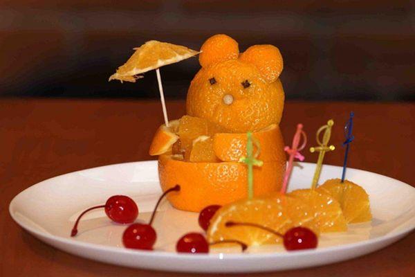 Мишка из апельсиновой корки