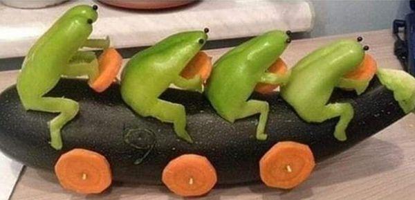 Смешные игрушки из овощей