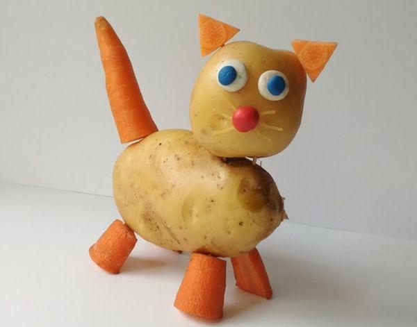 Котик из овощей