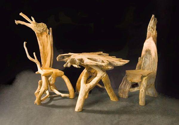 Набор мебели из коряг